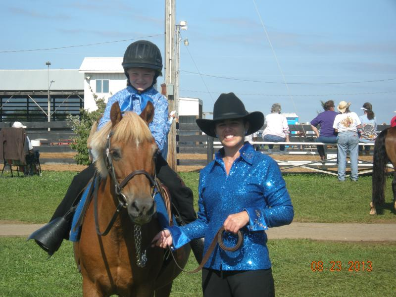 Landin 5yrs.& Heartbreaker in leadline class with Clarissa(Mom). 8/2013